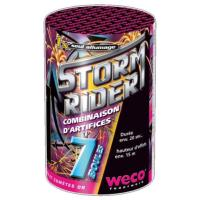 STORM RIDER - COMBINAISON D'ARTIFICES 7 DEPARTS WECO - FONTAINE A CHANGEMENT ET COMETES OR