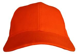 CASQUETTE BASEBALL UNIE ORANGE