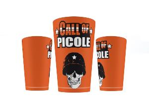 GOBELET / ECOCUP® / CUP HUMO CALL OF PICOLE ORANGE 25 CL