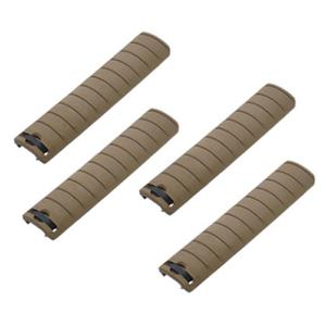 LOT DE 4 CACHES RAIL TAN ABS KING ARMS