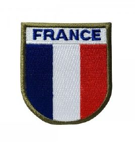 ECUSSON / PATCH BRODE FRANCE BLEU BLANC ET ROUGE A SCRATCH