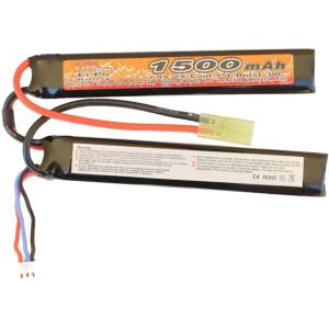 BATTERIE LIPO 7.4V 1500 MAH 15C/BURST 30C 2 STICKS VB POWER