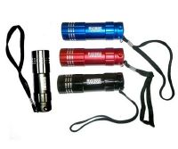 LAMPE TORCHE FLASHLIGHT 9 LED EN METAL NOIR