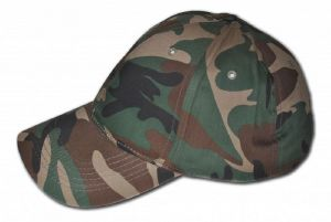 CASQUETTE TYPE BASEBALL CAMOUFLAGE WOODLAND REGLABLE
