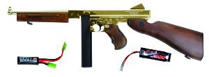 THOMPSON  M1 A1 MILITARY AEG VERSION PLAQUEE OR ET BOIS 1.5 JOULE + BATTERIE 1600 MH + MOSFET