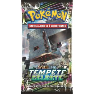 1 PAQUET DE 10 CARTES BOOSTER SUPPLEMENTAIRES POKEMON SL07 SOLEIL ET LUNE TEMPETE CELESTE