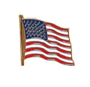 BADGE / PIN'S / EPINGLE / INSIGNE EN METAL DORE - DRAPEAU ETATS-UNIS USA