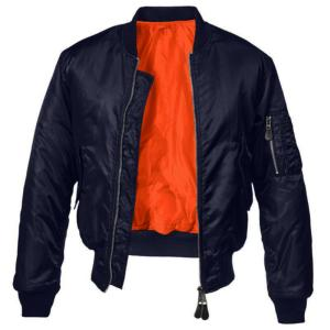 BOMBER / BLOUSON AVIATEUR MA-1 REVERSIBLE BLEU / ORANGE FOSTEX