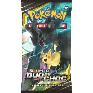 1 PAQUET DE 10 CARTES BOOSTER SUPPLEMENTAIRES POKEMON SL09 SOLEIL ET LUNE DUO DE CHOC