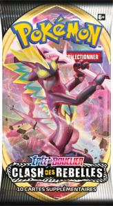 BOOSTER DE 10 CARTES SUPPLEMENTAIRES POKEMON EPEE ET BOUCLIER 2 EB02 - CLASH DES REBELLES