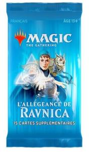 1 BOOSTER DE 15 CARTES SUPPLEMENTAIRES L'ALLEGEANCE DE RAVNICA DE MAGIC THE GATHERING
