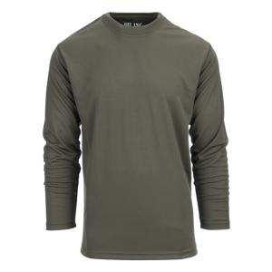 TEE-SHIRT / POLO TACTIQUE COL ROND VERT MANCHES LONGUES A SECHAGE RAPIDE 101 INC