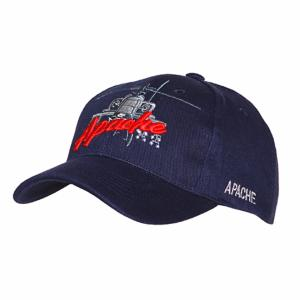 CASQUETTE BLEU MARINE BRODEE HELICOPTERE AH-64 APACHE