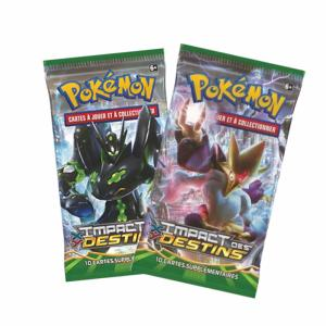 1 PAQUET DE 10 CARTES BOOSTER SUPPLEMENTAIRES POKEMON XY10 IMPACT DES DESTINS A COLLECTIONNER