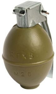 GRENADE A MAIN FACTICES M26 / RESERVOIR DE BILLES AIRSOFT