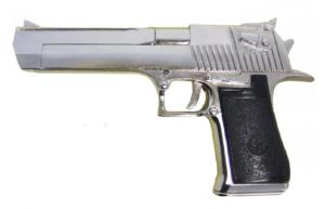 PISTOLET SEMI AUTOMATIQUE .357 USA ISRAEL CHROME ET NOIR 1982