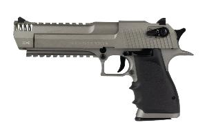 DESERT EAGLE L6 STAINLESS CO2 BLOWBACK CULASSE METAL SEMI ET FULL AUTO 1.1 JOULE CYBERGUN