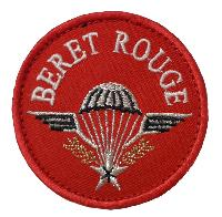 ECUSSON PATCH BRODE BERET ROUGE A SCRATCH