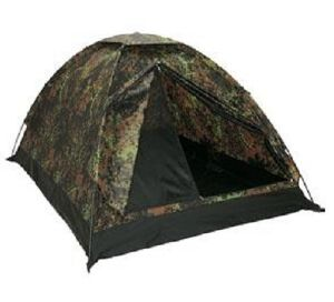 "TENTE "" IGLOO STANDARD "" ETANCHE 2 PLACES CAMOUFLAGE FLECKTARN"