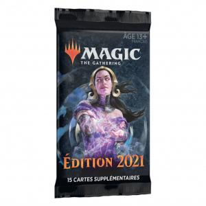 1 BOOSTER DE 15 CARTES SUPPLEMENTAIRES EDITION 2021 DE MAGIC THE GATHERING