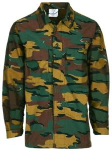 CHEMISE MILITAIRE US BDU CAMOUFLAGE BELGE FOSTEX