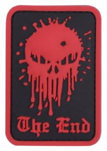 PATCH / ECUSSON 3D PVC SCRATCH TETE DE MORT THE END ROUGE