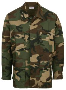 CHEMISE MILITAIRE US BDU CAMOUFLAGE WOODLAND FOSTEX