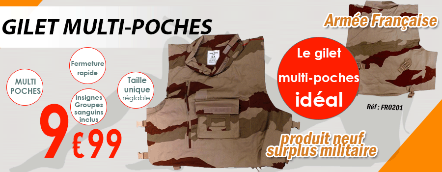 GILET TACTIQUE CAMOUFLAGE MULTI-POCHES