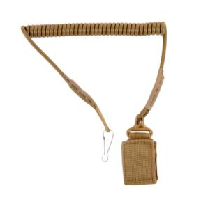 LANYARD CORDON DE SECURITE TACTIQUE FLEXIBLE DELTA TACTICS TAN POUR REPLIQUE DE POING